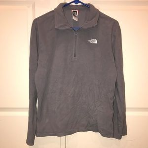 Men's Gray North Face 1/4 Zip Fleece Pullover
